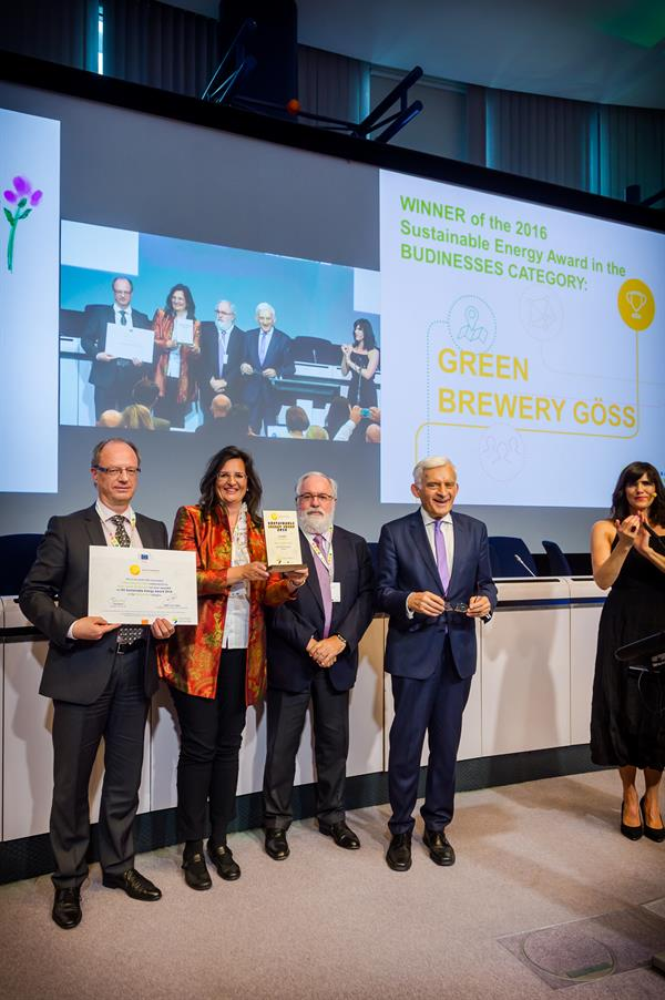 EU Sustainable Energy Awards 2016 – Brau Union Österreich ausgezeichnet